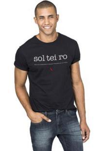 Camiseta Reserva Solteiro Masculina - Masculino-Preto