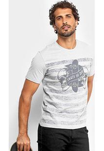 Camiseta Mood Striped Skull Masculina - Masculino