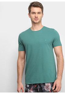 Camiseta Vr Básica Lisa Masculina - Masculino-Verde Escuro