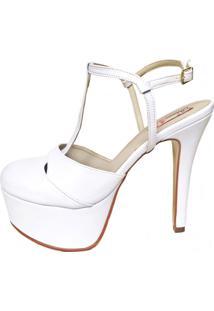 Sandália Blume Calçados Flame Branca