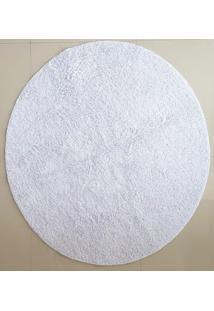 Tapete Algodão Par Sala/Quarto - Redondo - 1,50 X 1,50 - Cor Branco