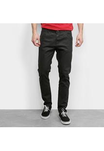 Calça Jeans Ecxo Masculina - Masculino-Preto