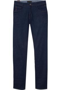 Calça Dudalina Blue Raw Bordados Jeans Masculina (Jeans Escuro Amaciado, 42)