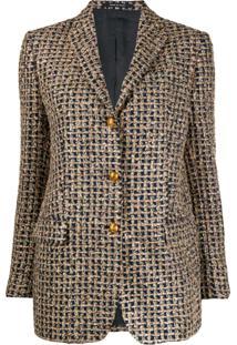 Tagliatore Blazer De Tweed Com Brilho - Azul