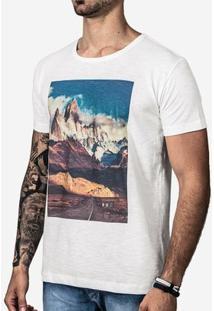 Camiseta Hermoso Compadre Patagônia Masculina - Masculino-Off White