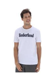 Camiseta Timberland Ss Kennebec Linear Logo - Masculina - Branco