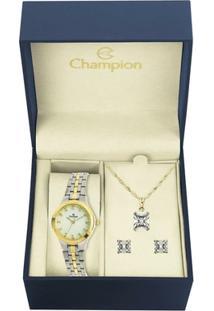 Kit Relógio Champion Feminino - Cn25458D - Feminino