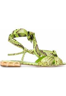 Dolce & Gabbana Sandália Com Padronagem Pele De Cobra - Verde