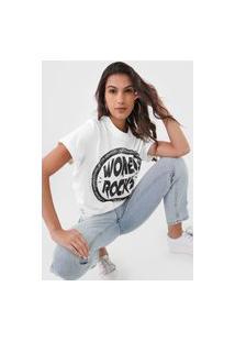 Camiseta Colcci Women Rocks Off-White