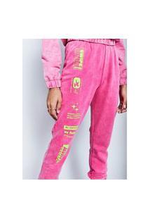 Calça Jogger Pink Marmorizado Authoria