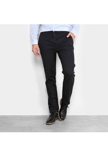 Calça Sarja Reta Ellus Color Power Straight Bolso Faca Masculina - Masculino-Azul Escuro
