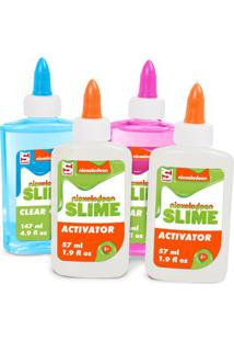Conjunto De Acessórios - Faça Seu Slime - Nickelodeon - Azul E Rosa Com Ativador - Toyng