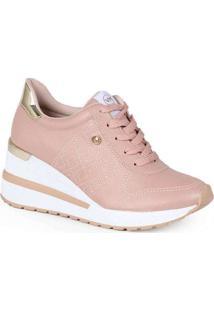Tênis Sneaker Feminino Via Marte Recortes Metaliza