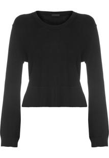 Blusa Feminina Casual Long Sleeve - Preto