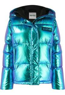 Kenzo Holiday Capsule Hooded Puffer Jacket - Azul