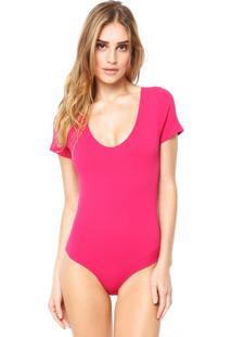 Body Lupo Loba Sem Costura Confete Rosa