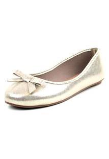 Sapatilha Tag Shoes Metalizada Dourada