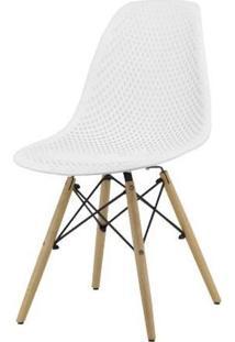 Cadeira Lópes Branca Base Natural 82Cm - 62938 - Sun House