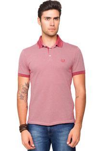 Camisa Polo Tony Menswear De Malha Aveludada Vermelho