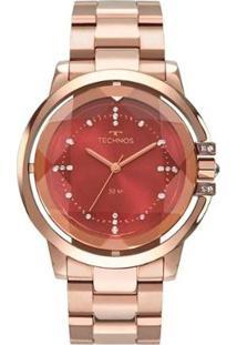 Relógio Technos Elegance Crystal 2036Mln/4R Feminino - Feminino-Rosa