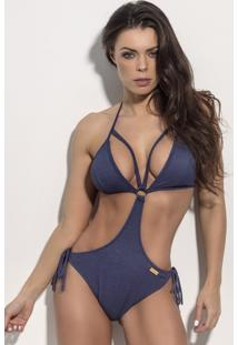 Maio Swimsuit Superhot Sexy Denin Jeans M