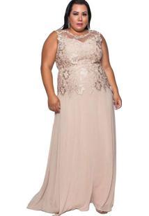 Vestido Almaria Plus Size Pianeta Bege