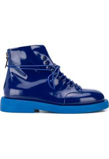 Marsèll Lace Up Ankle Boots - Azul