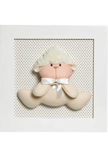 Quadro Decorativo Ovelha Potinho De Mel Branco