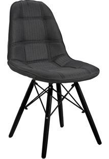 Cadeira Em Mdf/Mdp 1114-Or Design - Preto / Preto