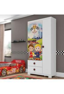 Guarda Roupa Infantil Super Power 3 Portas Branco Móveis Estrela