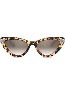 Miu Miu Eyewear Óculos De Sol Gatinho - Marrom