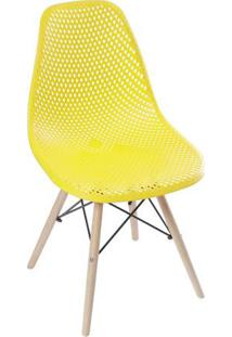 Cadeira Eames Colmeia- Amarela & Bege Claro- 82,5X46Or Design