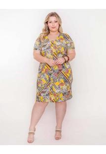 Vestido Plus Size Palank Curto Vitória Feminino - Feminino