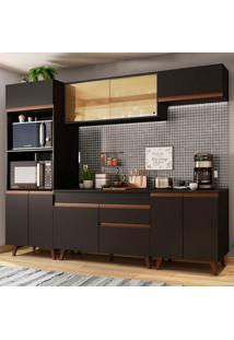 Cozinha Completa Madesa Reims 260002 Com Armário E Balcão - Preto
