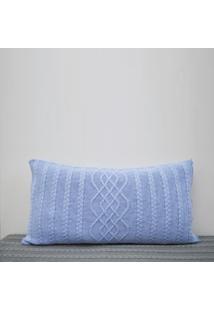 Capa Almofada Tricot 60X40Cm CzãPer Sofa Trico Cod 1026.3 Azul Bebe - Azul - Feminino - Dafiti
