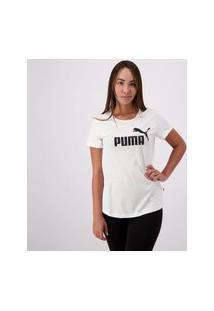 Camiseta Puma Essentials Logo Feminina Branca