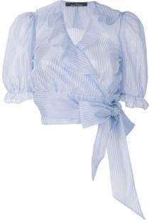 Rokh Blusa Cropped - Azul