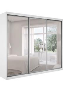 Guarda-Roupa Casal Com Espelho Ravena Top Branco 3 Pt 6 Gv