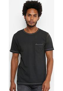 Camiseta Redley Estonada Linha Contraste Masculina - Masculino