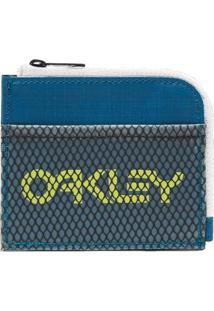 Carteira Oakley 90'S Zip Small Wallet Masculina - Masculino-Azul