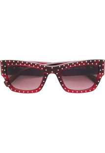 Versace Eyewear Óculos De Sol De Gatinho Com Tachas - Vermelho