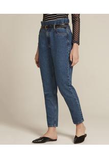 6b363e501 Calça Jeans Feminina Mom Azul Médio
