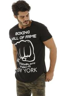 Camiseta Everlast Hall Of Fame Masculina - Masculino-Preto