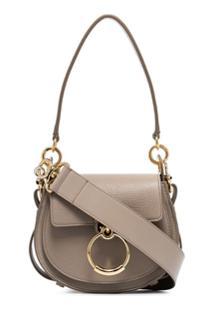Chloé Grey Tess Small Leather Shoulder Bag - Cinza