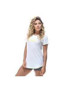 Camiseta Round Shatark Pact - Branco/Neon