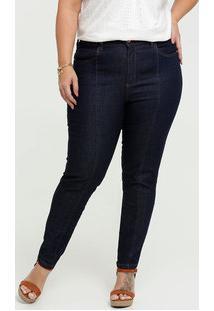 Calça Jeans Skinny Feminina Plus Size Uber Jeans