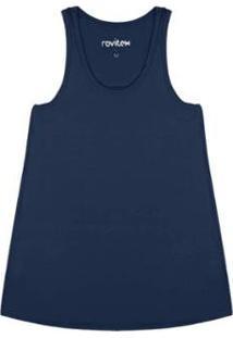 Regata Lisa Rovitex Premium - Feminino-Azul