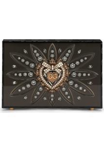 Dolce & Gabbana Bolsa Transversal Devotion Mini - Cinza