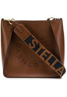 Stella Mccartney Bolsa Tiracolo Com Logo 'Stella' - Marrom