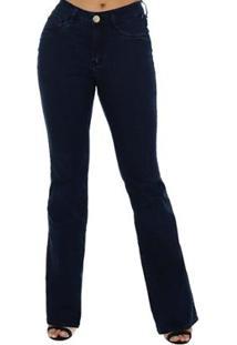 398e1afcb ... Calça Jeans Denuncia Mid Rise Flare Feminina - Feminino-Azul